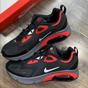 NIKE AIR MAX 200 Black/White-University Red men's